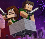 "♪ ""Through The Night""  Minecraft песен"