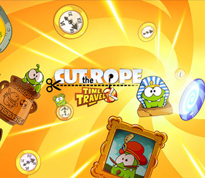 how to beat cut the rope time travel