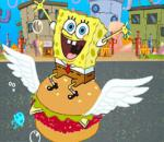 Spongebob Eating Hamburger