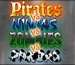 PIRATES VS. NINJAS VS. ZOMBIES VS. PANDAS
