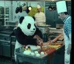 Panda in the kitchen