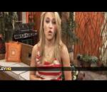 Emily Osment gives a tour of the Hannah Montana Forever Set