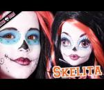 Skelita Calaveras Monster High Doll Costume Makeup Tutorial for Cosplay or Halloween Sugar Skull