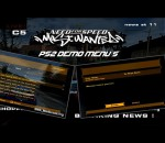 NFS Most Wanted Ps2 Demo Menus