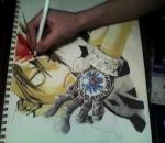 Drawing Tsuna Sawada With Water colored pencils