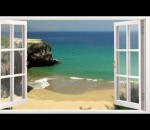 Window Views with relaxing sounds of waves - HD nature Film trailer 1080p
