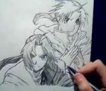 Drawing The Elric Brothers - By GateBreaker1
