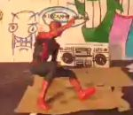 Spiderman breakdance
