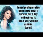 Selena Gomez - A Year Without Rain (karaoke)