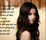 Selena Gomez - Round and Round Karaoke/Instrumental with on screen lyrics
