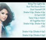Shake It Up - Selena Gomez Lyrics