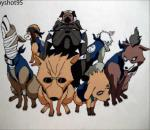 How to Draw and Color Kakashi's Dogs (HD)