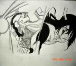 Drawing of Hollow Ichigo( Vasto Lorde) vs Ulquiorra Release Form