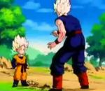 goten goes super saiyan for first time
